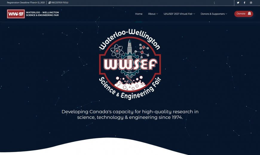 WWSEF Website Homepage