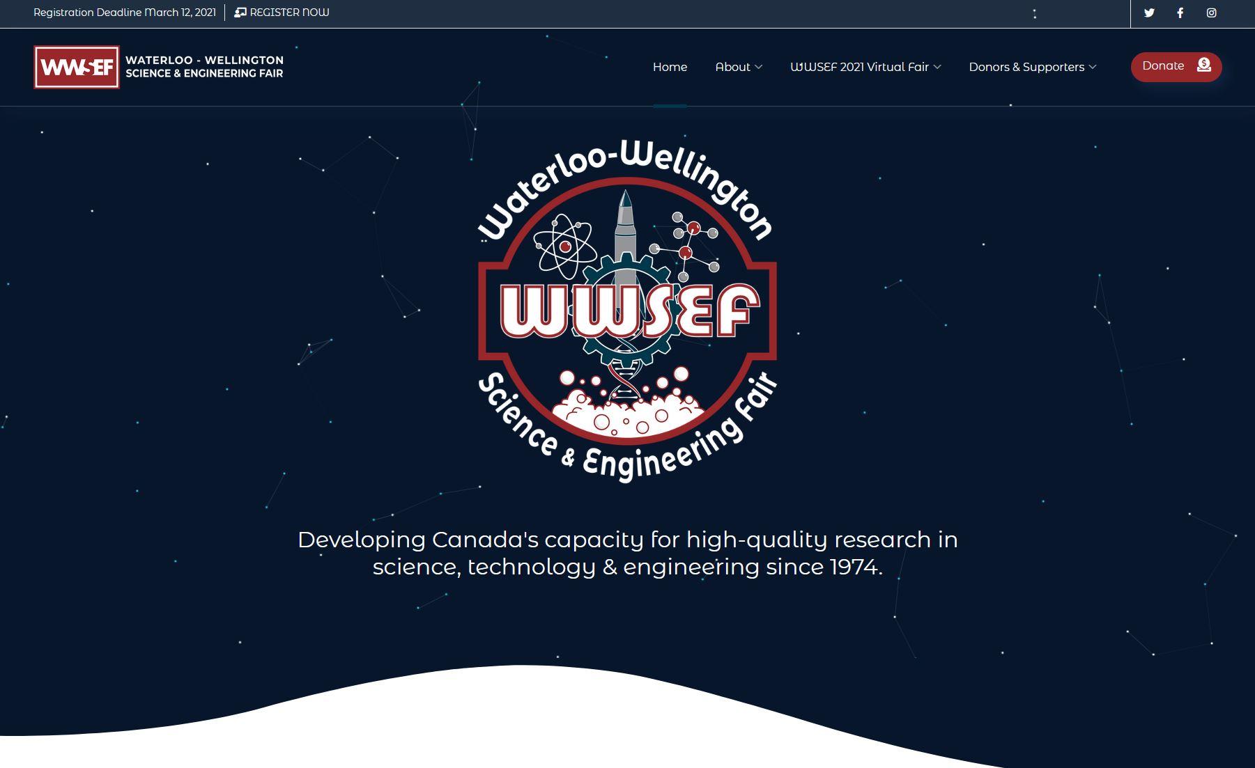 WWSEF Website Homepage